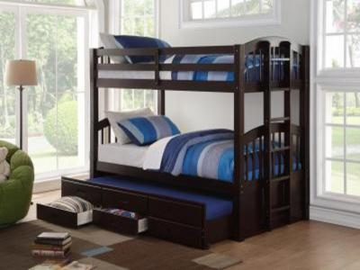 Espresso B1840 BUNK BED by Midha's Furniture Serving Brampton, Mississauga, Etobicoke, Toronto, Scraborough, Caledon, Cambridge, Oakville, Markham, Ajax, Pickering, Oshawa, Richmondhill, Kitchener, Hamilton and GTA area