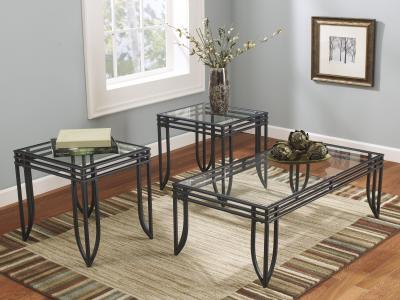 Exeter 3PC Table set by Midha's Furniture Serving Brampton, Mississauga, Etobicoke, Toronto, Scraborough, Caledon, Cambridge, Oakville, Markham, Ajax, Pickering, Oshawa, Richmondhill, Kitchener, Hamilton and GTA area