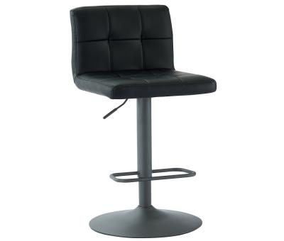 FUSION-GAS LIFT STOOL-BLACK FAUX LEATHER