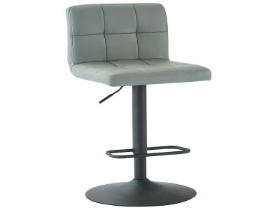 FUSION-GAS LIFT STOOL-GREY FAUX LEATHER