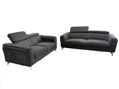 Fabric Sofa + Love Seat W/Adjustable Headrest by Midha's Furniture Serving Brampton, Mississauga, Etobicoke, Toronto, Scraborough, Caledon, Cambridge, Oakville, Markham, Ajax, Pickering, Oshawa, Richmondhill, Kitchener, Hamilton and GTA area