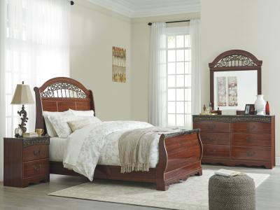 Fairbrook Estate 5 pc Bedroom Set includes HB/FB/RAILS/DR/MR