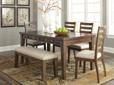 Flynnter 5 Dining Room Set by Midha's Furniture Serving Brampton, Mississauga, Etobicoke, Toronto, Scraborough, Caledon, Cambridge, Oakville, Markham, Ajax, Pickering, Oshawa, Richmondhill, Kitchener, Hamilton and GTA area