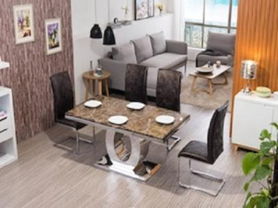 GENEVA Marble Top Table set Dinette