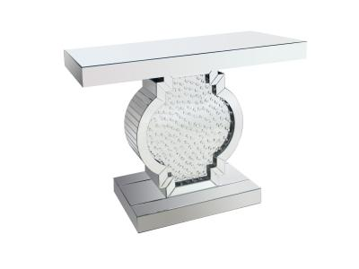Glass Console W/Crystals by Midha's Furniture Serving Brampton, Mississauga, Etobicoke, Toronto, Scraborough, Caledon, Cambridge, Oakville, Markham, Ajax, Pickering, Oshawa, Richmondhill, Kitchener, Hamilton and GTA area
