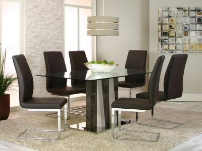 HEKA w/PORTOBELLO SIDE CHAIRS 5 PIECE SET