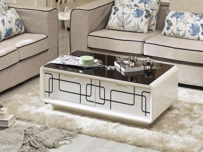 High Gloss White Lacquer Coffee Table
