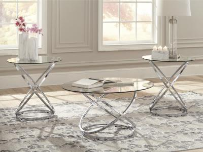 Ashley Hollynyx 3PC Modern Coffee Table Set by Midha's Furniture Serving Brampton, Mississauga, Etobicoke, Toronto, Scraborough, Caledon, Cambridge, Oakville, Markham, Ajax, Pickering, Oshawa, Richmondhill, Kitchener, Hamilton and GTA area