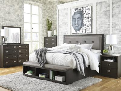 Hyndell 6 PC Queen Bedroom Set by Midha's Furniture Serving Brampton, Mississauga, Etobicoke, Toronto, Scraborough, Caledon, Cambridge, Oakville, Markham, Ajax, Pickering, Oshawa, Richmondhill, Kitchener, Hamilton and GTA area