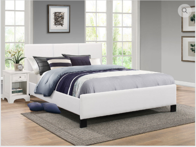 Modern IF- 179 Double Size Bed in White Finish by Midha's Furniture Serving Brampton, Mississauga, Etobicoke, Toronto, Scraborough, Caledon, Cambridge, Oakville, Markham, Ajax, Pickering, Oshawa, Richmondhill, Kitchener, Hamilton and GTA area