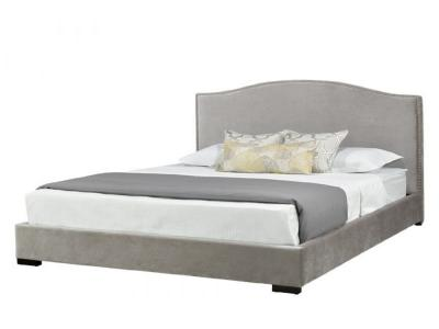 Jameson Grey Queen velvet bed