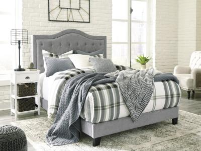 Jerary Queen Bed- Gray by Midha's Furniture Serving Brampton, Mississauga, Etobicoke, Toronto, Scraborough, Caledon, Cambridge, Oakville, Markham, Ajax, Pickering, Oshawa, Richmondhill, Kitchener, Hamilton and GTA area