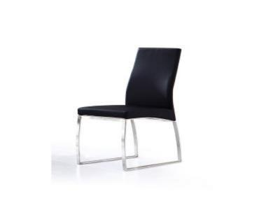 K-CHAIR-CHROME Black PU