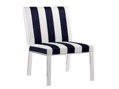 Kate Black And White Stripes Dining Chair