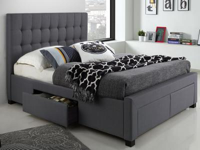 Modern King Storage Bed in Charcoal Colour by Midha's Furniture Serving Brampton, Mississauga, Etobicoke, Toronto, Scraborough, Caledon, Cambridge, Oakville, Markham, Ajax, Pickering, Oshawa, Richmondhill, Kitchener, Hamilton and GTA area