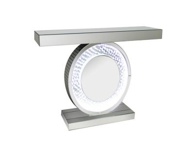 LED ROUND CONSOLE WITH CRYSTALS by Midha's Furniture Serving Brampton, Mississauga, Etobicoke, Toronto, Scraborough, Caledon, Cambridge, Oakville, Markham, Ajax, Pickering, Oshawa, Richmondhill, Kitchener, Hamilton and GTA area