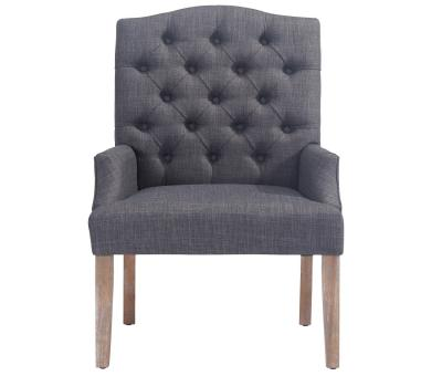 LUCIAN-ACCENT CHAIR-GREY by Midha's Furniture Serving Brampton, Mississauga, Etobicoke, Toronto, Scraborough, Caledon, Cambridge, Oakville, Markham, Ajax, Pickering, Oshawa, Richmondhill, Kitchener, Hamilton and GTA area