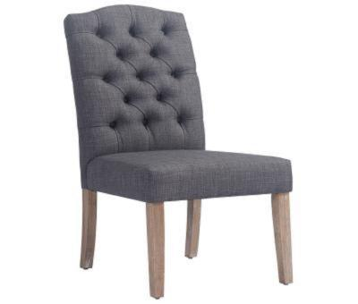 LUCIAN-SIDE CHAIR-GREY by Midha's Furniture Serving Brampton, Mississauga, Etobicoke, Toronto, Scraborough, Caledon, Cambridge, Oakville, Markham, Ajax, Pickering, Oshawa, Richmondhill, Kitchener, Hamilton and GTA area