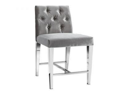 Leslie Grey Velvet Counter Chair