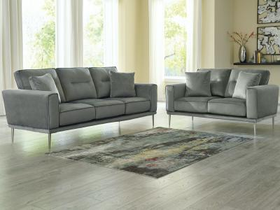 Macleary Sofa Only (Grey) by Midha's Furniture Serving Brampton, Mississauga, Etobicoke, Toronto, Scraborough, Caledon, Cambridge, Oakville, Markham, Ajax, Pickering, Oshawa, Richmondhill, Kitchener, Hamilton and GTA area