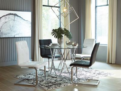 Madanere 5 PC Dining Set by Midha's Furniture Serving Brampton, Mississauga, Etobicoke, Toronto, Scraborough, Caledon, Cambridge, Oakville, Markham, Ajax, Pickering, Oshawa, Richmondhill, Kitchener, Hamilton and GTA area