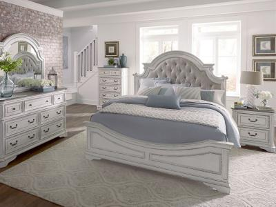 Magnolia Manor Queen Size Panel Bed Set (6 PC)
