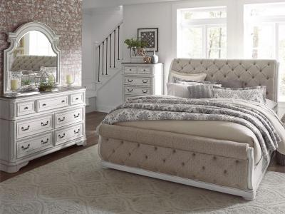 Magnolia Manor Sleigh Bed Set (6 PC)
