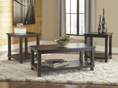 Ashley Mallacar 3PC Coffe  Table Set in Plank Style by Midha's Furniture Serving Brampton, Mississauga, Etobicoke, Toronto, Scraborough, Caledon, Cambridge, Oakville, Markham, Ajax, Pickering, Oshawa, Richmondhill, Kitchener, Hamilton and GTA area
