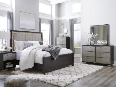 Maretto Two-Tone Queen 6 PC Set by Midha's Furniture Serving Brampton, Mississauga, Etobicoke, Toronto, Scraborough, Caledon, Cambridge, Oakville, Markham, Ajax, Pickering, Oshawa, Richmondhill, Kitchener, Hamilton and GTA area