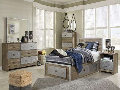 McKeeth Panel Bed with storage