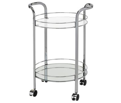 NEEMA-2-TIER BAR CART-CHROME by Midha's Furniture Serving Brampton, Mississauga, Etobicoke, Toronto, Scraborough, Caledon, Cambridge, Oakville, Markham, Ajax, Pickering, Oshawa, Richmondhill, Kitchener, Hamilton and GTA area