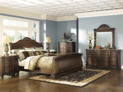North Shore Sleigh 6 pc Bedroom Set