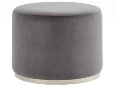 OPUS-OTTOMAN-GREY/SILVER by Midha's Furniture Serving Brampton, Mississauga, Etobicoke, Toronto, Scraborough, Caledon, Cambridge, Oakville, Markham, Ajax, Pickering, Oshawa, Richmondhill, Kitchener, Hamilton and GTA area