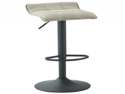 PLUTO-GAS LIFT STOOL-BEIGE FABRIC