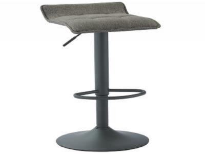 PLUTO-GAS LIFT STOOL-GREY FABRIC