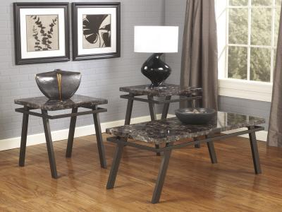 Paintsville 3PC Table Set by Midha's Furniture Serving Brampton, Mississauga, Etobicoke, Toronto, Scraborough, Caledon, Cambridge, Oakville, Markham, Ajax, Pickering, Oshawa, Richmondhill, Kitchener, Hamilton and GTA area