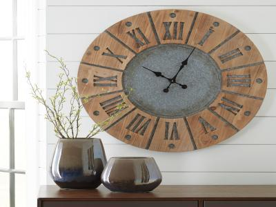 Payson Wall Clock by Midha's Furniture Serving Brampton, Mississauga, Etobicoke, Toronto, Scraborough, Caledon, Cambridge, Oakville, Markham, Ajax, Pickering, Oshawa, Richmondhill, Kitchener, Hamilton and GTA area