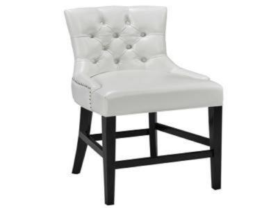 Petra White Leatherette Counter Chair