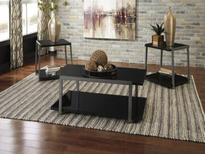 Ashley Rollynx 3PC Coffee Table Set in Contemporary Style by Midha's Furniture Serving Brampton, Mississauga, Etobicoke, Toronto, Scraborough, Caledon, Cambridge, Oakville, Markham, Ajax, Pickering, Oshawa, Richmondhill, Kitchener, Hamilton and GTA area