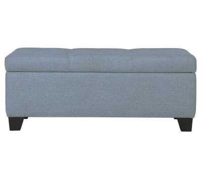 SARAH-STORAGE OTTOMAN-LIGHT BLUE