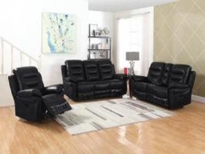 SILICA BLACK Sectionals & Recliners