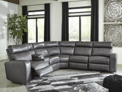Samperstone 6 PC Sectional by Midha's Furniture Serving Brampton, Mississauga, Etobicoke, Toronto, Scraborough, Caledon, Cambridge, Oakville, Markham, Ajax, Pickering, Oshawa, Richmondhill, Kitchener, Hamilton and GTA area