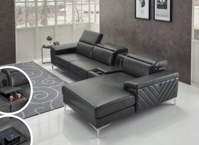 Sectional (Power Charging and Bluetooth Speakers)