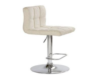Selena Pearl Fabric Adjustable Stool