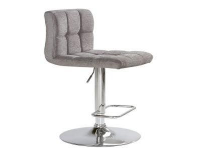Selena Platinum Fabric Adjustable Stool