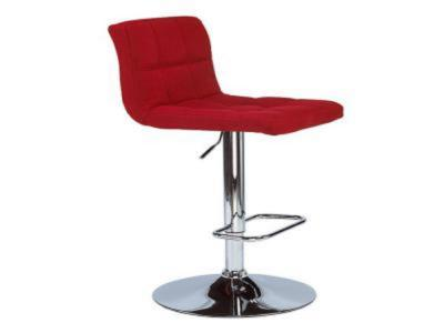 Selena Red Fabric Adjustable Stool
