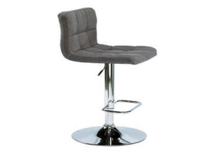 Selena Slate Fabric Adjustable Stool