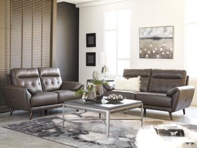 Sissoko Sofa Only (Genuine Leather) by Midha's Furniture Serving Brampton, Mississauga, Etobicoke, Toronto, Scraborough, Caledon, Cambridge, Oakville, Markham, Ajax, Pickering, Oshawa, Richmondhill, Kitchener, Hamilton and GTA area
