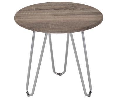 TARIO-ACCENT TABLE-DRIFTWOOD/CHROME