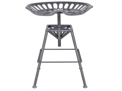 TRACTOR-ADJUSTABLE STOOL-GUNMETAL by Midha's Furniture Serving Brampton, Mississauga, Etobicoke, Toronto, Scraborough, Caledon, Cambridge, Oakville, Markham, Ajax, Pickering, Oshawa, Richmondhill, Kitchener, Hamilton and GTA area